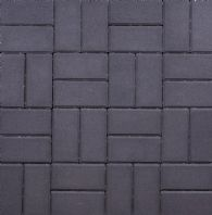 200x100x50mm THICK RECTANGULAR BLOCK PAVING, CHARCOAL